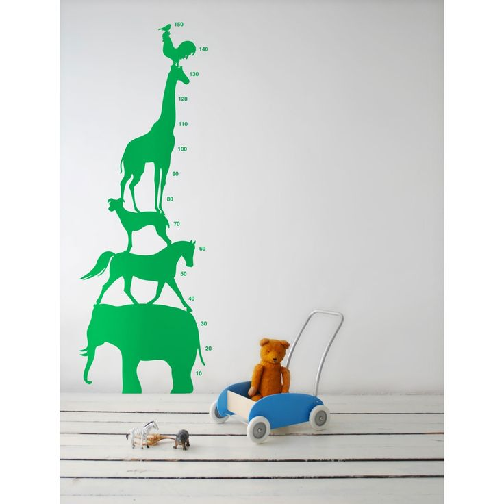 Animal Tower wallsticker, grønn i gruppen Posters / Wallstickers / Veggdekor hos ROOM21.no (111013)