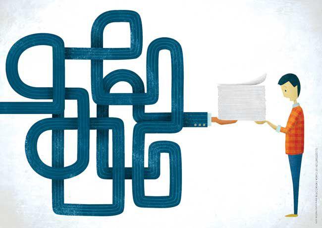 Keeping Contracts Simple; Illustration by Ciara Panacchia: www.ciaracreative.com via How Design