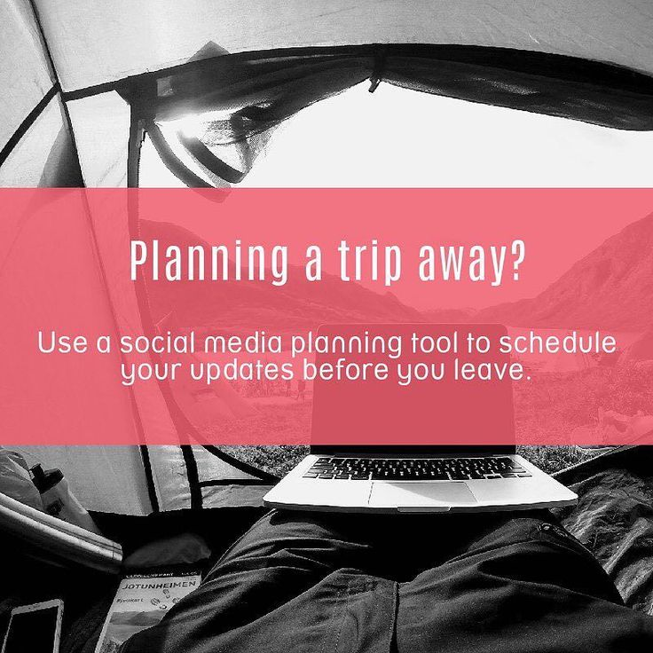Planning a trip away? Use a social media planning tool to schedule your updates before you leave. . . . . . #trip #away #plan #socialmedia #tool #schedule #updates #leave #travel #vacation