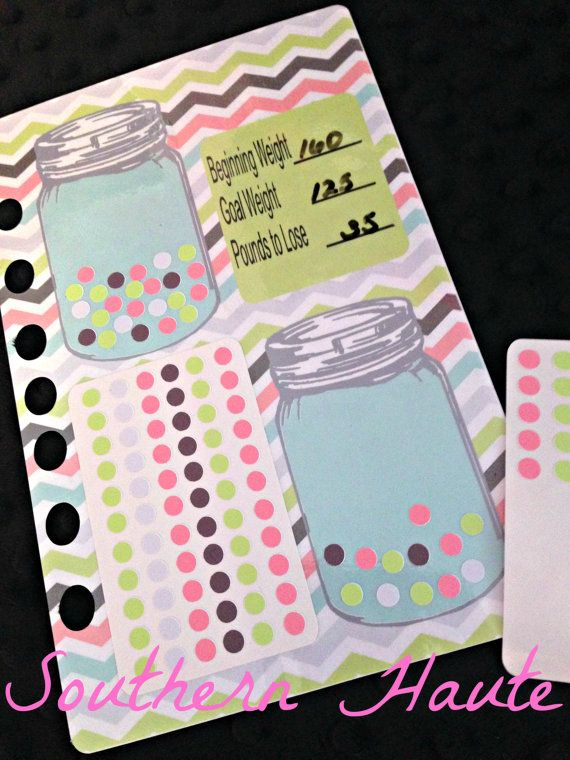 mason jar weight loss planner insert made to by