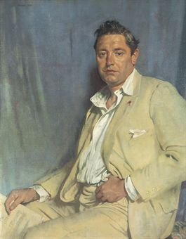 Portrait of Count John McCormack, 1923 by Sir William Orpen (1878-1931)....John Francis Count McCormack (1884 – 1945) was a world-famous Irish tenor, celebrated for his performances of the operatic and popular song repertoires, and renowned for his diction and breath control. He was also a Papal Count....casual in open-necked shirt and crumpled suit....