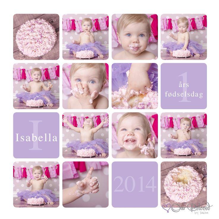 Cake Smash // Isabellas 1 års fødselsdagsgave