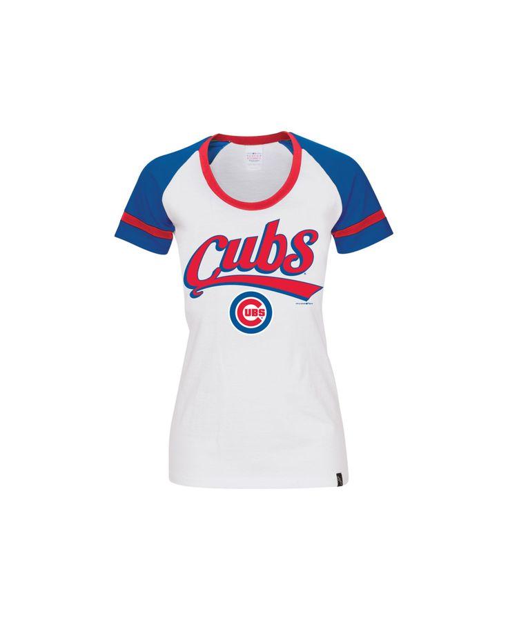 5th & Ocean Women's Chicago Cubs Athletic Foil T-Shirt