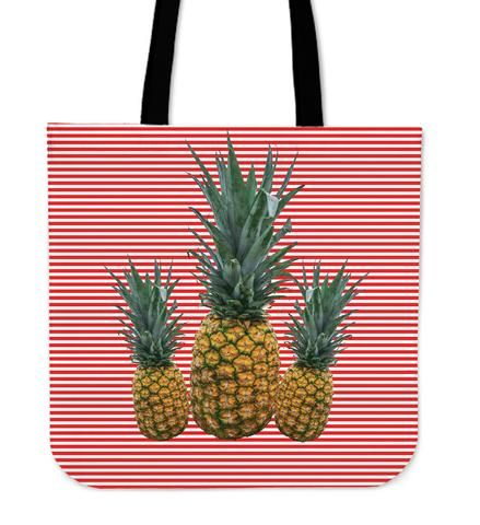 Striped Pinneaples - Tote Bag. Pinneaples are adored by everyone. Don´t miss the chance to wear this unique and stylish bag that will totally make your outfit wherever you go.