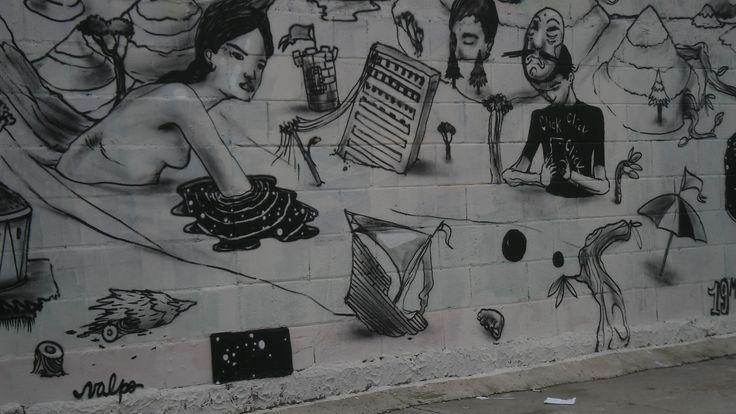 Fragmento de Mural en la Avenida Alemania