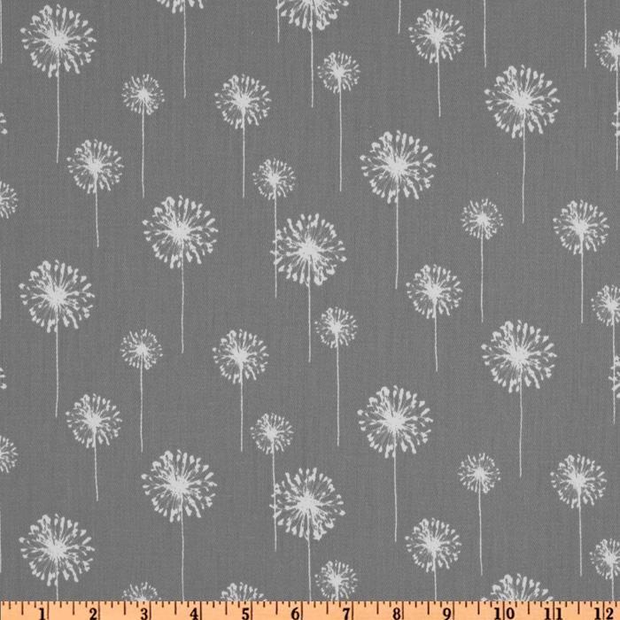 Living room curtains. Premier Prints Small Dandelion Twill Storm - Discount Designer Fabric - Fabric.com