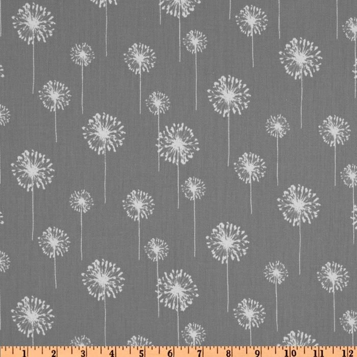 Living room curtains. Premier Prints Small Dandelion Twill Storm - Discount Designer Fabric - Fabric.com