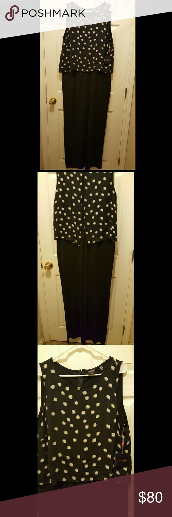 NWT Black and White Polka-dot Jumpsuit Black and white Polka-dot Jumpsuit with pockets. Rafaella Pants Jumpsuits & Rompers