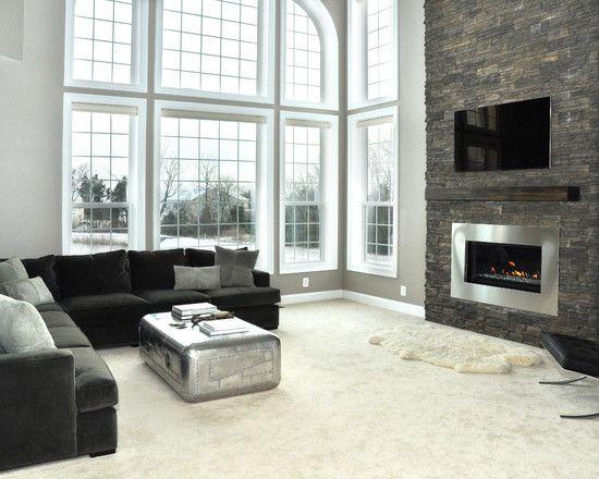 Stone Fireplace Renovation more photos: http://foter.com/living-room-furniture/