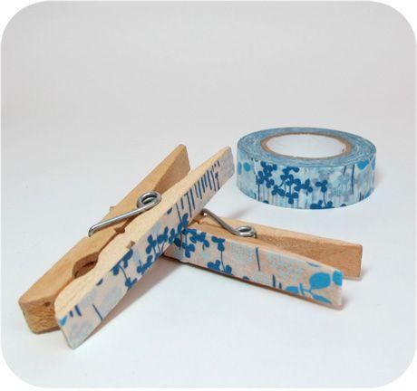 Washi Tape Clothes Pins