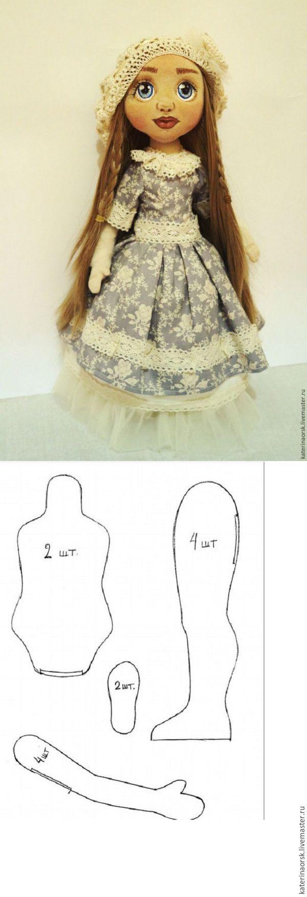 Surround yüzü ile dikiş tekstil bebek. Bölüm 1 - Adil Masters - el yapımı, el yapımı