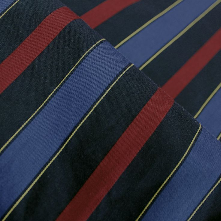 Contare Burgundy and Navy Satin Stripe Weave
