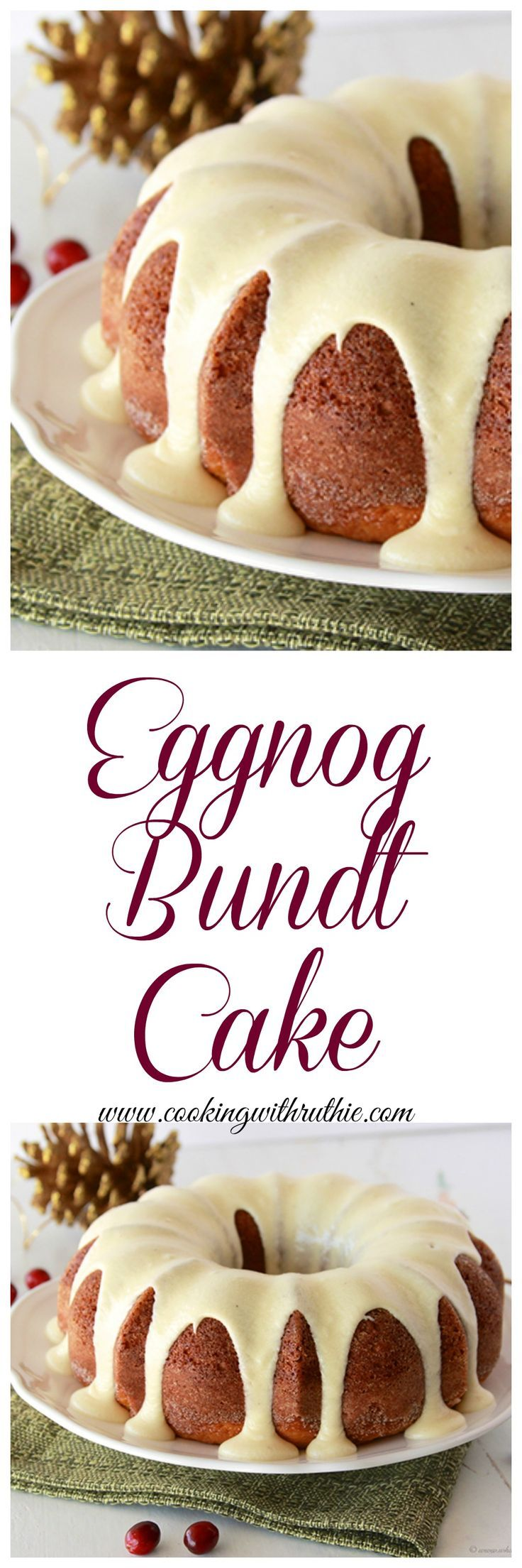 Eggnog Bundt Cake With Eggnog Frosting