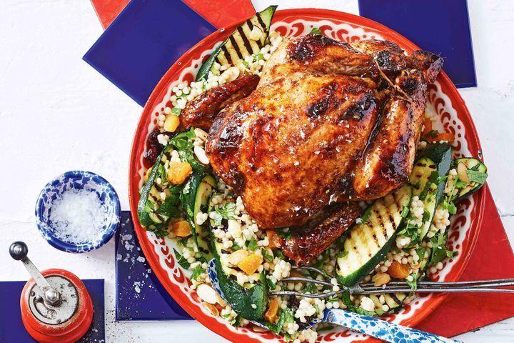 Spiced Honey Glazed Roast Chicken Recipe Aussie Food Roast Chicken Recipes Chicken Recipes