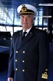 Captain Mario Stiffa: From 1979 to 1988 he worked with MSC Cargo as ship superintendent. In 1989 he joined Ecolmare  as Captain and supervisor. In 2000 he joined MSC Cargo with the rank of Captain and held this rank for eight seasons before moving to his first command of a passenger ship, MSC Lirica, in 2004. He is today on his 15th embark on board passenger ships. Captain Stiffa has commanded all classes of the MSC Cruises' fleet. (updated: 2012)
