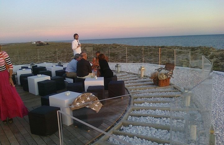 Rooftop terrace at vapor restaurant beach bar praia do for Terrace 45 restaurant