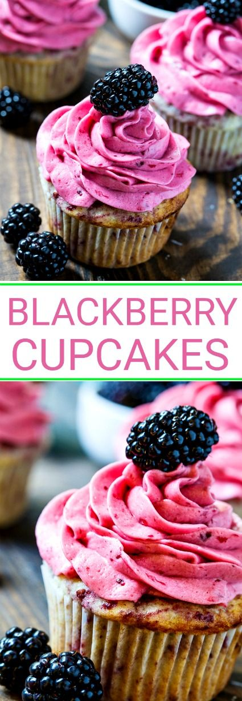 Blackberry Cupcakes with Blackberry Buttercream