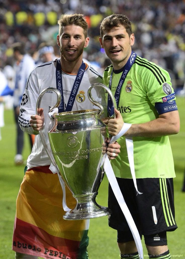Sergio Ramos and Iker Casillas; Real Madrid 4 Atletico Madrid 1 (25/5/2014)