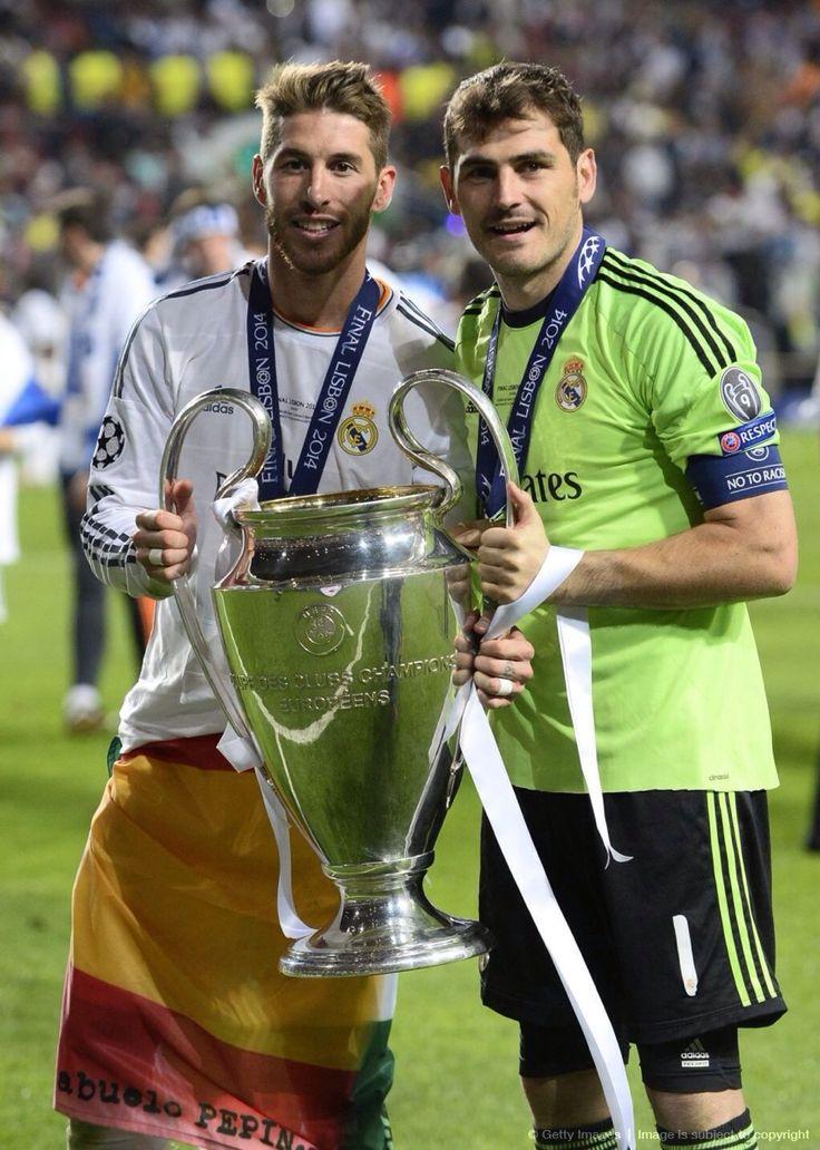 Sergio Ramos and Iker Casillas; Real Madrid 4 Atletico Madrid 1 (25/5/2014)