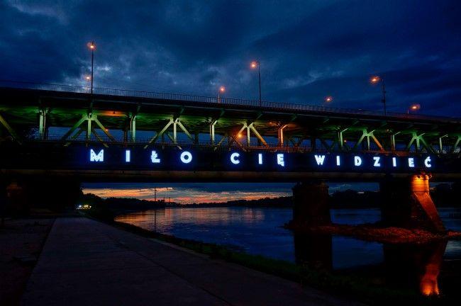 Warszawa Most Gdański , Neon - MIŁO CIĘ WIDZIEĆ