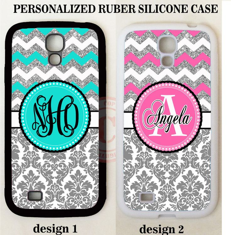 GREY DAMASK TEAL PINK CHEVRON MONOGRAM Case For Samsung Galaxy S7 S6 S5 NOTE 5 4 #UnbrandedGeneric