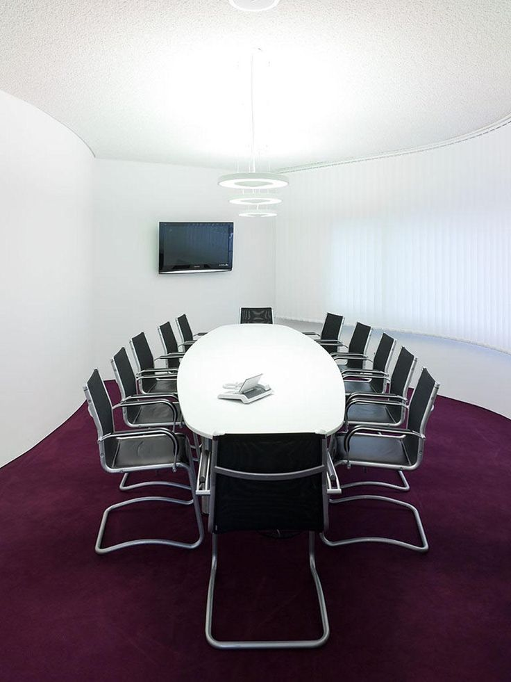 Interior, Enchanting Office Meeting Room Design With Stylish White Oval  Shaped Coference Table And Comfortable