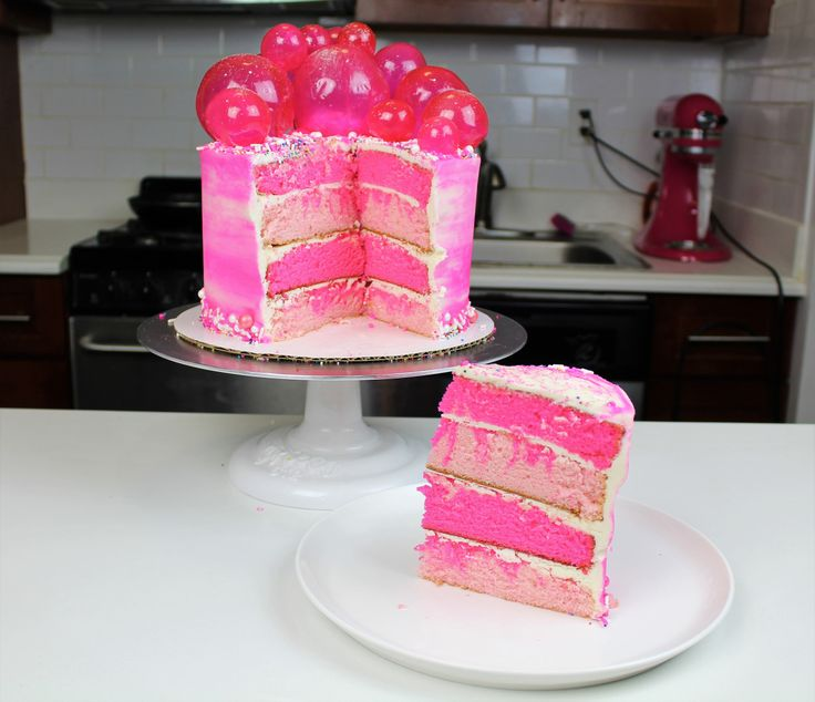 This week I made a pink, bubble gum inspired cake!! Don't worry, it isn't bubble gum flavored, just decorated in a bubble gum-inspired fashion. This cake was for Cosmopolitan, and the…