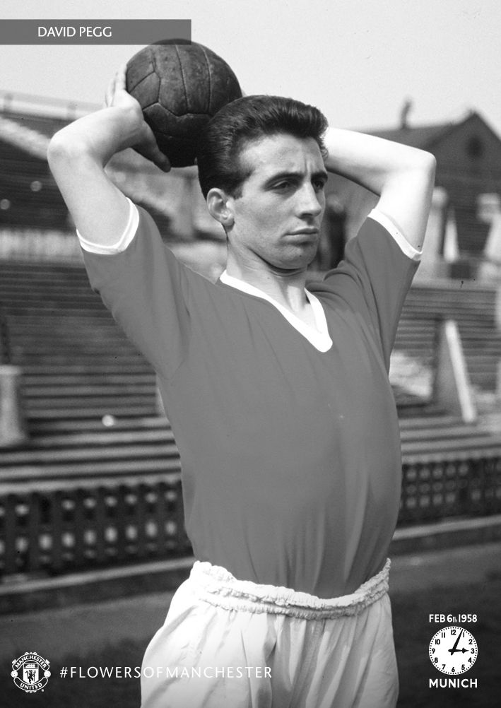 Doncaster-born David Pegg played outside-left for @manutd during Sir Matt Busby's reign as manager. Capped once for England, Pegg was one of eight players who lost their lives in the Munich Air Disaster on 6 February 1958.