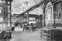 Thomas Andrews (the shipbuilder of the Titanic) was last seen in the first class smoking room of the Titanic