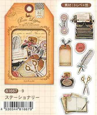Diary Scrapbook Sticker Label Pack Japan Q-LiA by HappyMemory