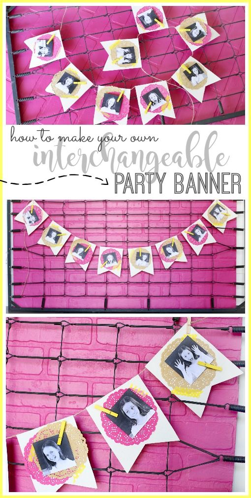 Interchangeable Party Banner - this is genius!! Sugar Bee Crafts