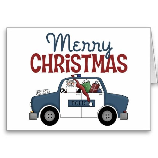 Police Officer Christmas Card Police Wife