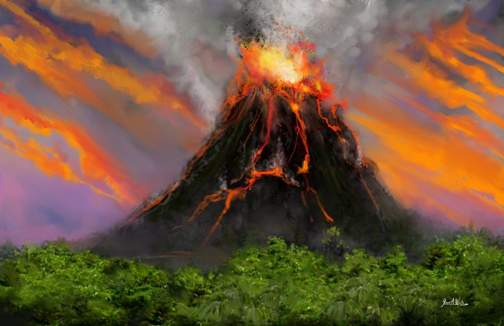 Volcano - Speed Paint Concept ©2014 Copyright, Joseph A. Wraith