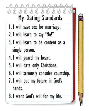 My Dating Standards, easier said than done yet not too much to ask