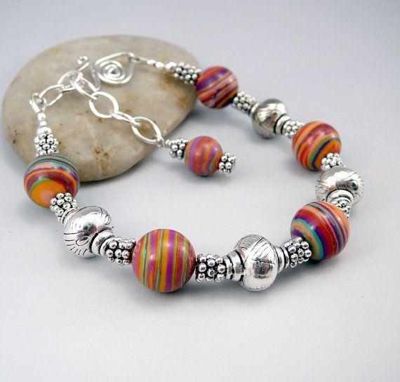 Malachite+Bracelet+Colorful+Bracelet+Malachite+by+TouchOfSilver
