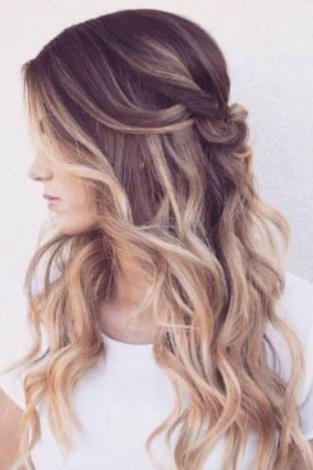 Omber half up half down curly hair #gorgeoushair