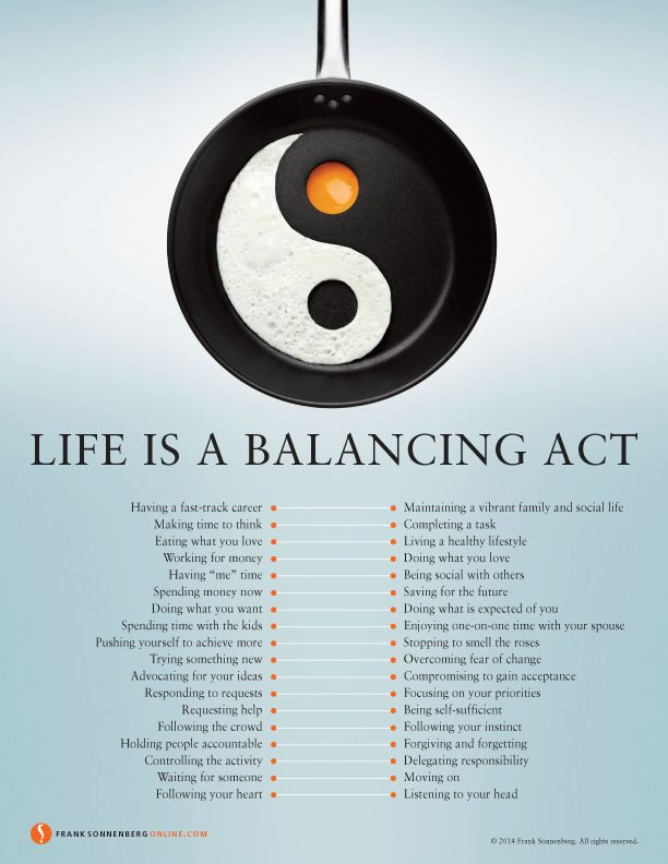 Life Is A Balancing Act | Values to Live By | www.franksonnenbergonline.com