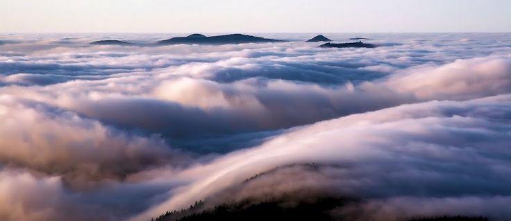 Lužické Hory from Ještěd