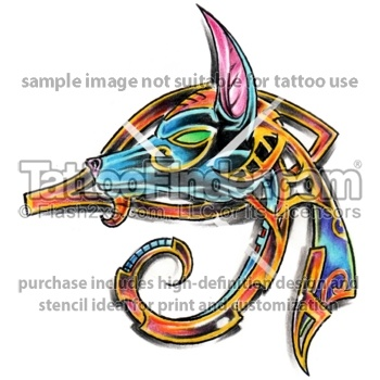eye of anubis tattoo design by Alex Diaconu