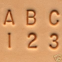 This alphabet and number stamp set is a wonderful set of stamps for leathercraft beginners or anyone to add to their stamp collection