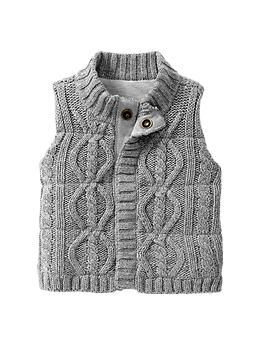 Cable knit vest | Baby Gap