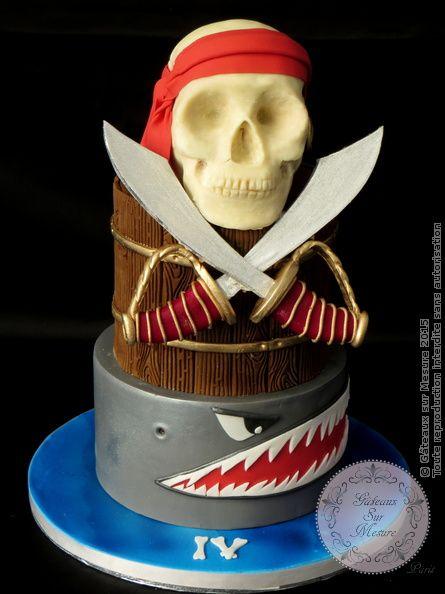 Cake Design - Gâteau Tête de Mort - pirate - Gâteaux sur Mesure Paris