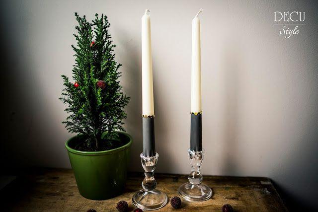 Wood&Crafts - kreatywne malowanie: Świeczki świąteczne i farba kredowa :)