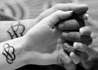Matching tattoos, love this idea.