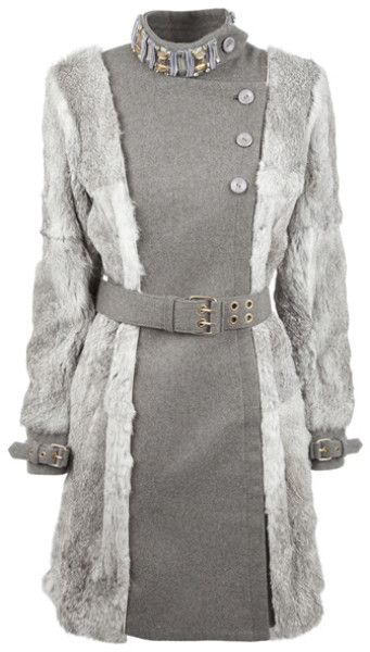 MATTHEW WILLIAMSON rabbit trimmed Wool and Cashmere-blend Coat @Lyst