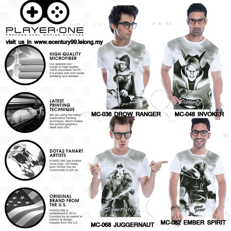 New arrival Dota 2 T-shirt in Malaysia by PLAYER ONE , a Gaming Apparel Brand from U.S