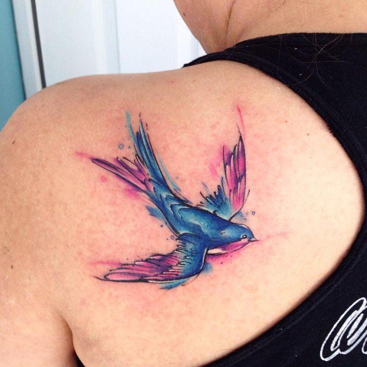 Golondrina AB #tattoo #tatuaje #golondrina #color #fullcolor #bird #adrianbascur