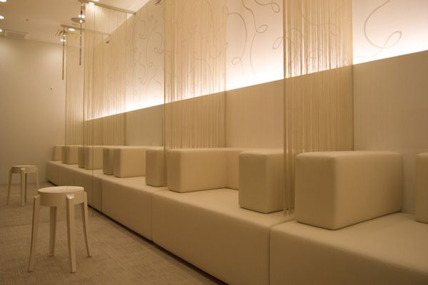 A waiting room in Japan someplace...Socale Interiors, designed by Yamamura Shunsuke.
