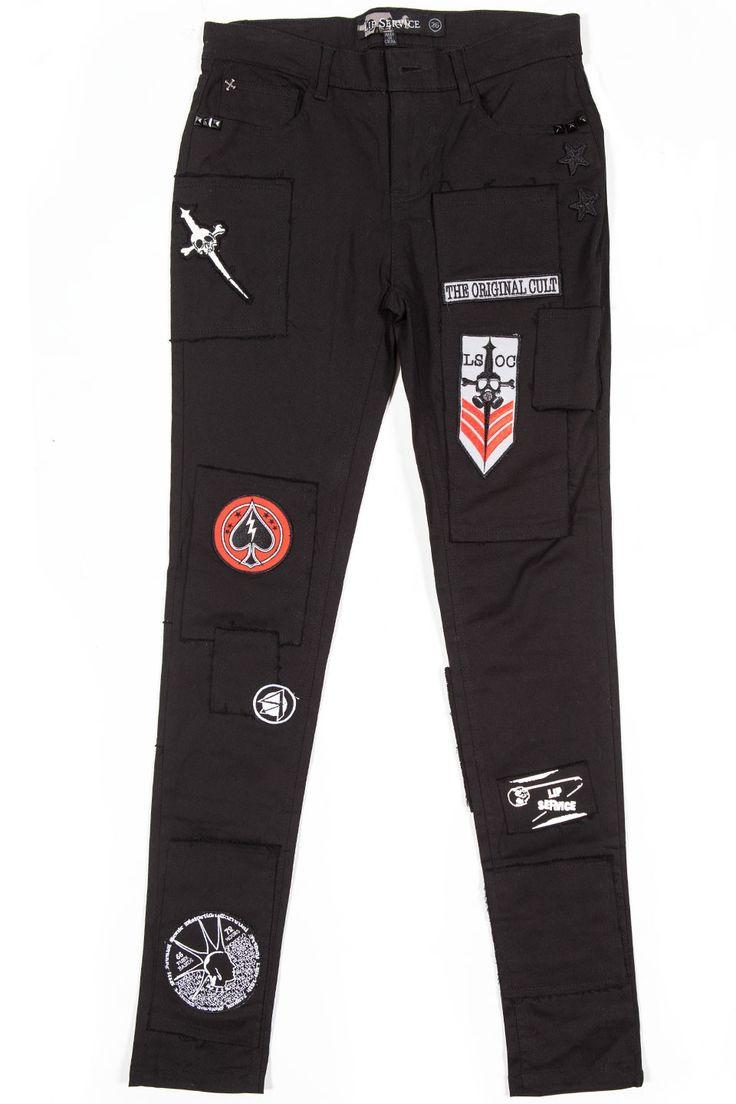 LIP SERVICE Punk & Disorderly patch pants #28-11-02