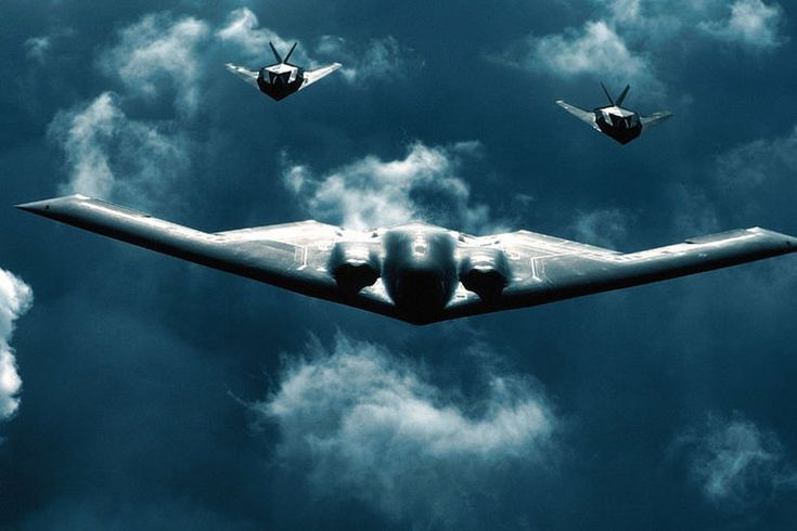 "The Air Force flies B-2 stealth nuclear bombers over ""undisclosed"" parts of the Korean peninsula."